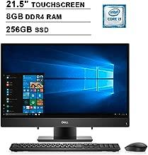 Dell 2019 Inspiron 22 3000 i3277 21.5 Inch FHD Touchscreen All-in-One Desktop (Intel Core i3-7130U 2.70 GHz, 8GB DDR4 RAM, 256GB SSD, Bluetooth, HDMI, Windows 10, Black) (Renewed)
