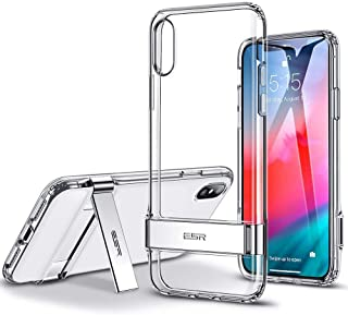 ESR iPhone XS Max Case, Hard Back TPU Flexible Frame, Metal Kickstand, transparent