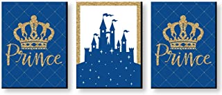 Big Dot of Happiness Royal Prince Charming - Baby Boy Nursery Wall Art and Kids Room Decorations - Christmas Gift Ideas - 7.5 x 10 inches - Set of 3 Prints