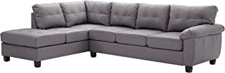 Glory Furniture Gallant Sectional, Gray. Living Room Furniture, 32