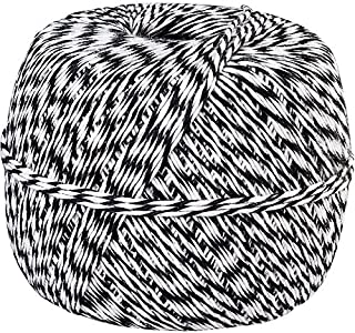 Made in USA 100% Cotton Black White Baker's Twine 1/2 Lb Spool (Approx 1500 Feet / 500 Yards)