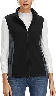 Women's Full-Zip Softshell Vests Lightweight Cozy Fleece Lined Vests with Pockets