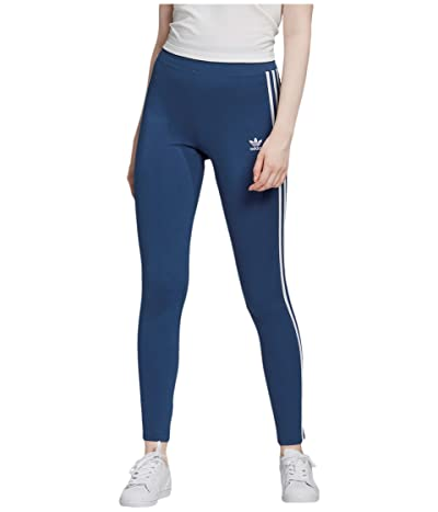 adidas Originals 3 Stripes Tights (Night Marine/White) Women