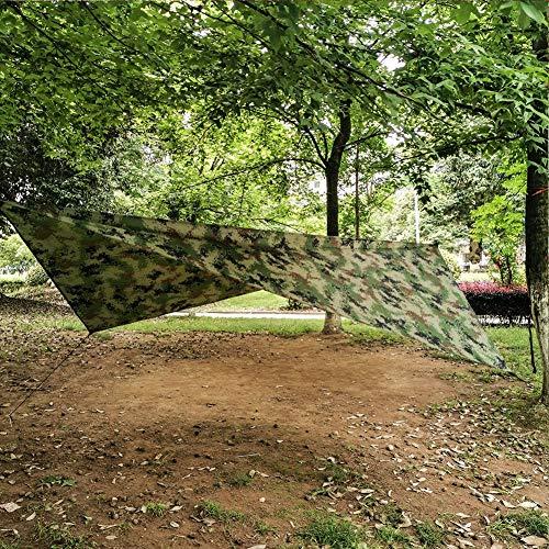 Zonnescherm zeil, multifunctionele zonnescherm zeil luifel hangmat tent onderdak voor buiten camouflage(Type A)