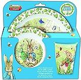 Stor Peter Rabbit 3pcs Micro Dinner Tableware Set Plate, Bowl & Cup, BPA Free