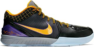 Nike Kobe IV Protro Basketball Shoes (M11/W12.5, Black/Purple)