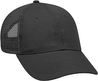 OTTO Wholesale 12 x Promo Cotton Blend Twill 6 Panel Low Profile Mesh Back Trucker Hat - (12 Pcs)