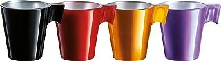 Luminarc J7275 Flashy LONGO-Rouge, Noir, Violet, doré Tasse, 0.22 liters, Pétrole