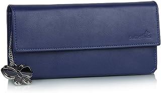 Butterflies Blue Synthetic Women's Wallet (BNS 2111)