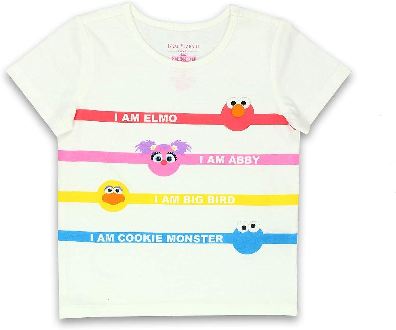 Isaac Mizrahi Loves Sesame Street Elmo Toddler Baby Short Sleeve T-Shirt Tee (4T, White)