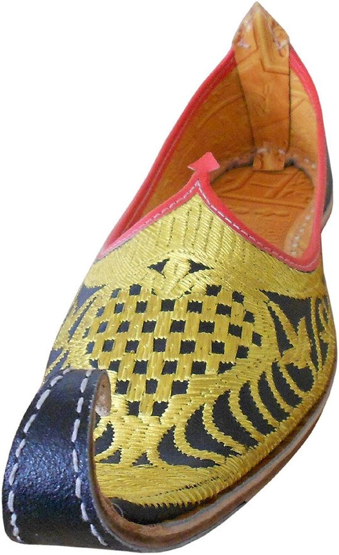 Kalra skapade människornas indiska Jutti Traditionell Läder Ethnic Khussa