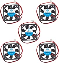 WINSINN 50mm Fan 12V Brushless 5010 50x10mm for 3D Printer RAMPS Driver/PC Graphics Card Motherboard - High Speed (Pack of 5Pcs)