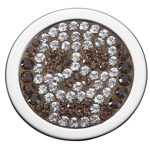 Pavo Real Diam 18mm Relleno Skull Gold-Crystal