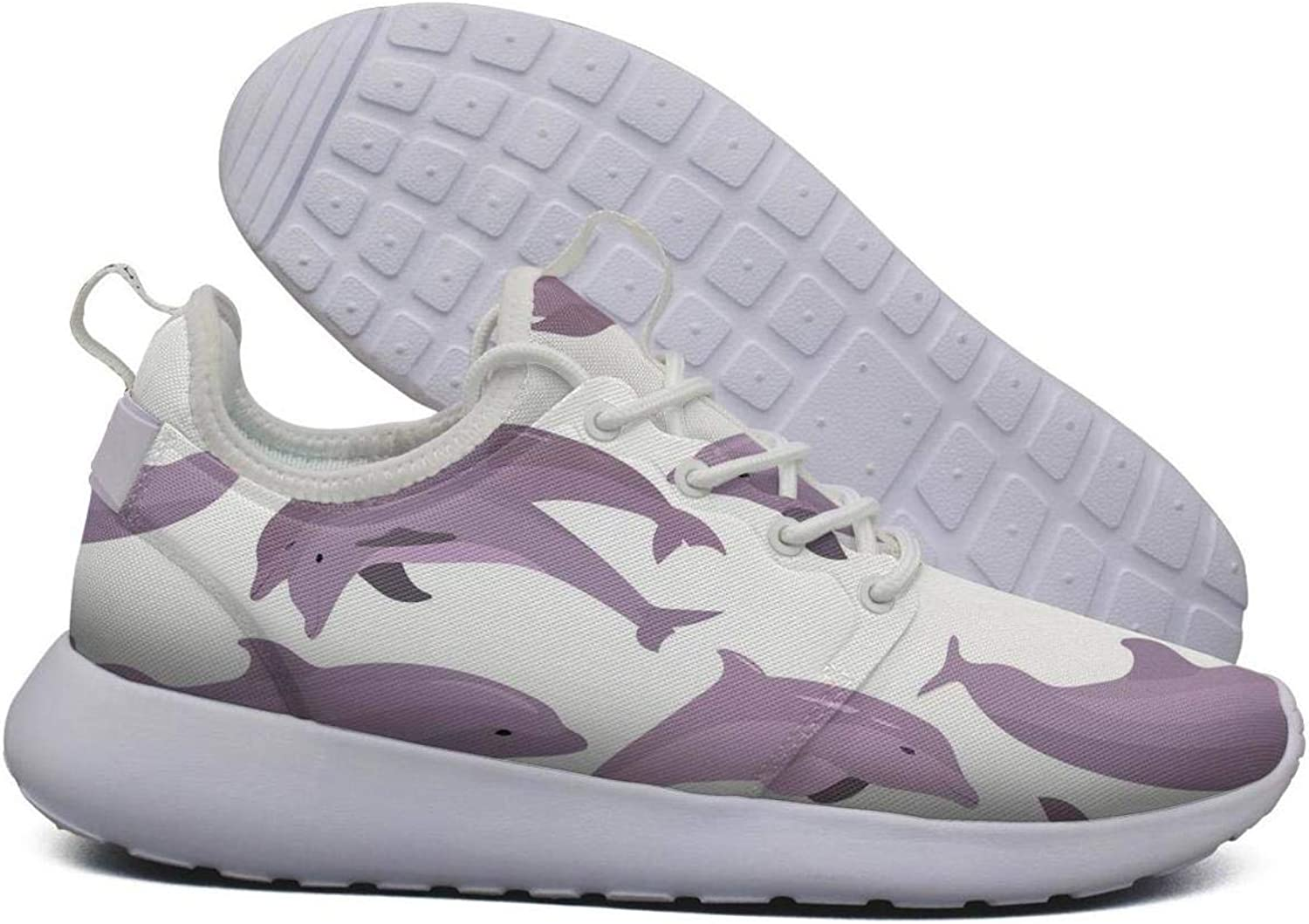 Hoohle Sports Womens Dolphin Purple Flex Mesh Roshe 2 Lightweight Coll Cross-Country Running shoes