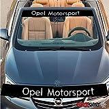 myrockshirt Cascada Opel Motorsport Aufkleber Rennstreifen 130cm+Logo- Aufkleber,Decal, Sticker,auch Hochleistungsfolie, Sonnenblend