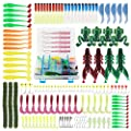 BrilliantDay 146pcs Artificial Fishing Lure set Soft Bait with Hook Accessories Set from BrilliantDay
