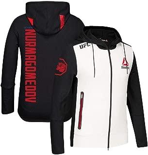 Reebok Khabib Nurmagomedov UFC Fight Kit Full-Zip Official Black Walkout Hoodie