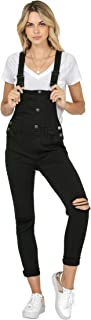 Best black distressed overalls Reviews
