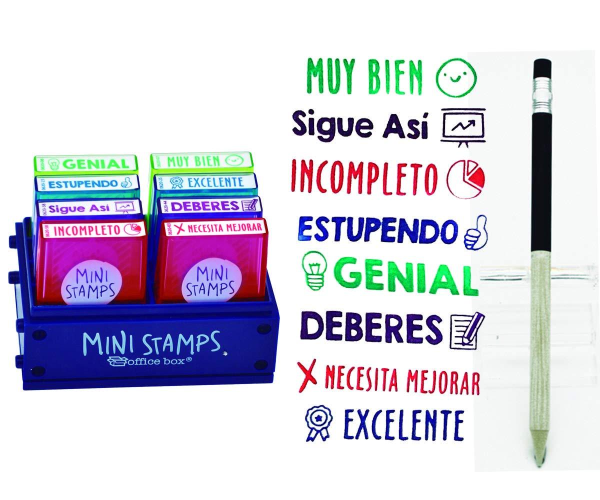 Pack 8 Sellos Profesor Mini Stamps Motivación CASTELLANO. Hasta ...