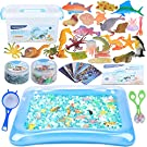 MAGICLUB Water Beads Play Set -24 Pcs Ocean Sea Animals Tactile Sensory Play Toys for Kids with Water Beads Tools,sea Creatures,Animal Cards,Water Mat-Great Sensory Bins for Toddlers 3+