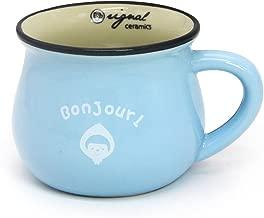 Momugs 8 oz Coffee Cup, Novely Cute Lovely Cartoon Animal Pattern Small Milk Mug, Sky-blue