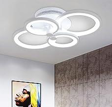 Ganeed Modern Ceiling Light,Metal Acrylic LED Flush Mount Ceiling Light Fixtures,36W LED Chandelier Light Fixture for Livi...