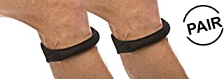 Cho-Pat Original Knee Strap (Pair) - Recommended by Doctors to Reduce Knee Pain - Black (Medium, 12.5