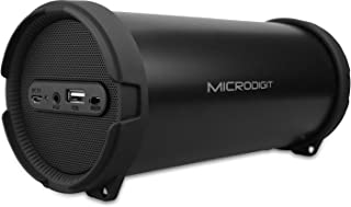 Microdigit Bluetooh Portable Drum Speaker for Multi, Black - M0051RT