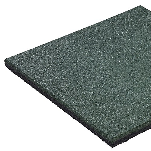 Gartenwelt Riegelsberger Fallschutzmatte 50 x 50 x 2,5 cm GRÜN Fallschutzplatte Bodenschutzmatte Gummimatte