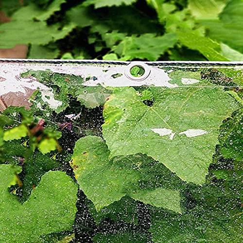 Tarpaulina de lona impermeable transparente, plano de tejido resistente a prueba de intemperie, toldos de PVC con ojales, Plan de barcos de parabrisas resistente al desgarro de 0,35 mm, para muebles d