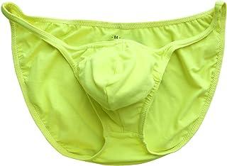 5ba6e7b768 Musclealive Hommes Slips Bulbe mou Bikini Sexy Thong Troncs Mode  Sous-vêtements Coton et Spandex