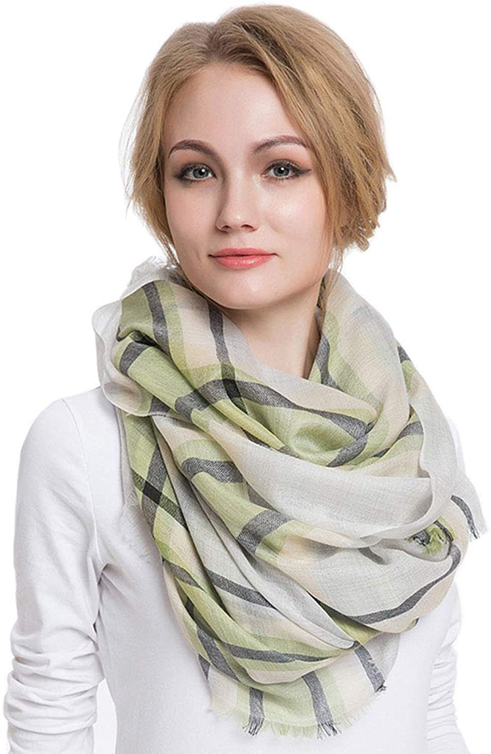Stoles Scarf Cashmere Shawl Scarf Spring and Autumn Winter Thin Fashion Scarf Ladies Cashmere Tassel Shawl (color   Green, Size   200  90 cm)
