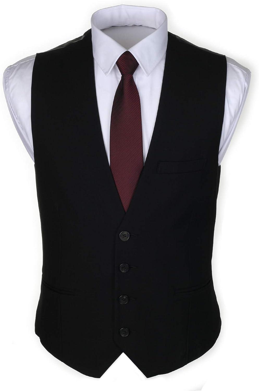 RuthBoaz Cheap SALE Start Max 66% OFF Men's 3Pockets 4Button Suit Business Vest