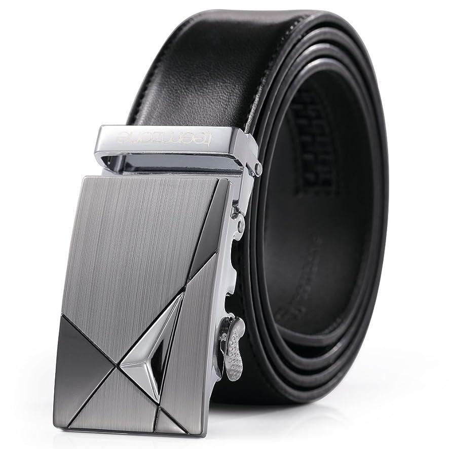Teemzone Mens Leather Ratchet Dress Belt Automatic Buckle Slide Belt …