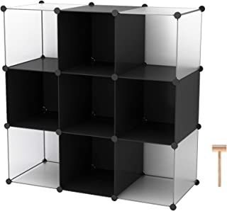C&AHOME Cube Storage, 9-Cube Organizer Units, Plastic Closet Cabinet, Organizer Units, DIY Bookcase, Storage Shelving Ideal for Bedroom, Living Room, Office, 36.6