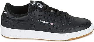 Reebok Club C 85, Unisex Adults' Gymnastics, Black (Int/Black/White/Gum Int/Black/White/Gum), 2.5 UK (34 EU)