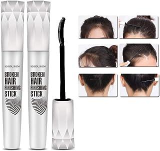 Womdee 髪の仕上げクリーム、小さな壊れた髪の仕上げの髪のさわやかな脂肪のない整形ジェルヘアワックスファッション修理ボンエッジスタイリングクリーム女性男性用 (2 個)