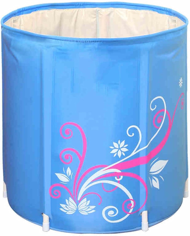 Ren Chang Jia Shi Pin Firm Inflatable Bathtub Folding Bathtub Portable Insulation Adult Bathtub Plastic Bathtub Hot Spring Bathtub Massage Bathtub Household Bathtub (color   bluee, Size   7068cm)