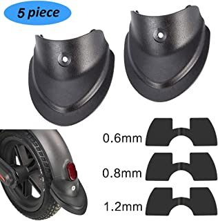 chuancheng 5 Piece Include 1 Pair Front and Rear Splashproof Fender Fish Tail and 3 Pieces Rubber Vibration Dampers for Xiaomi M365/ M365 Pro Scooter Replacement Part Accessory