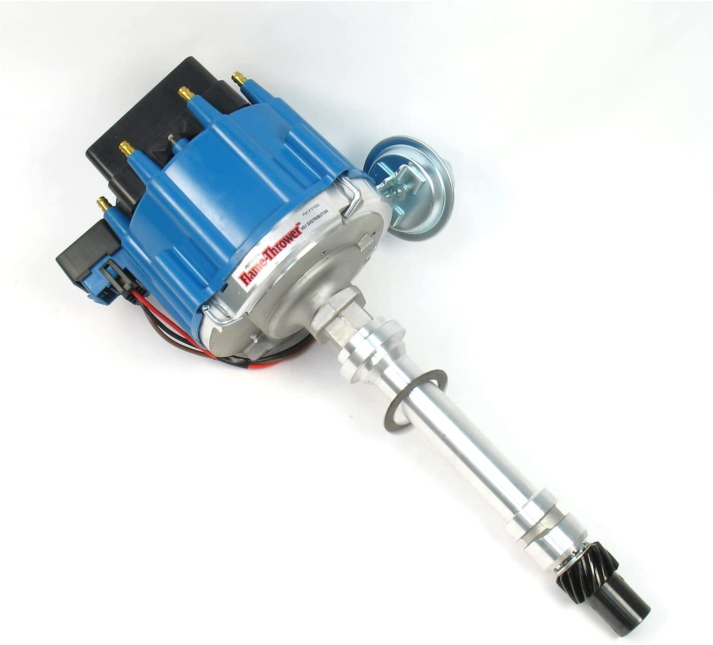 Pertronix Ranking TOP16 D1052 Max 72% OFF Flame-Thrower Distributor HEI Blue Machined Cap