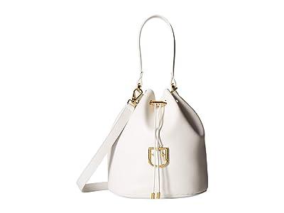 Furla Corona Small Drawstring Bucket Bag (Chalk) Handbags