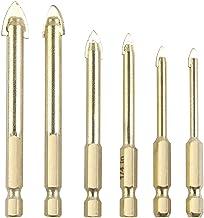 Glazen Boor, 6 Stuks 4-12mm Legering Driehoek Boor Bits Set, Glas En Tegel Boor Set Met 6,35mm Steel, Carbide Tip Boren Bi...