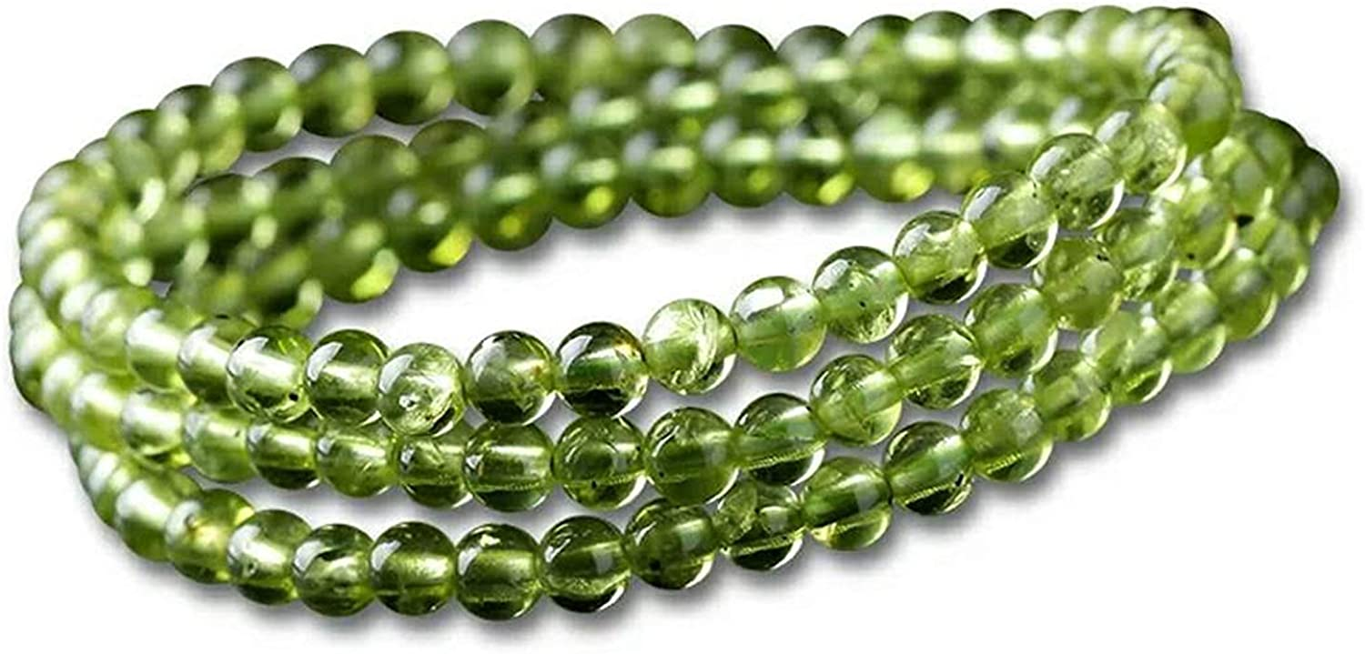 6mm Natural Green Olivine Peridot Jewelry Limited time trial price R Women For Max 77% OFF 3 Laps Men