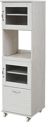 JKプラン スリム レンジ台 食器棚 レンジラック 幅 45 H156 キッチン 収納 隙間収納 棚 収納棚 FLL-0066-WH