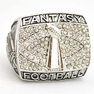 Fantasy Football Championship Ring Trophy Prize Super Bowl Championship Ring for Fans Collections (10)