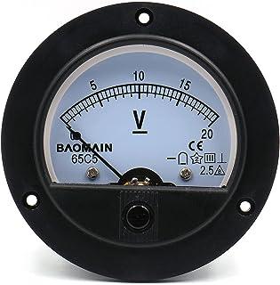 Baomain 65C5 Analogue Panel Meter Volt Voltage Gauge Analog Voltmeter Dc 0-20 V