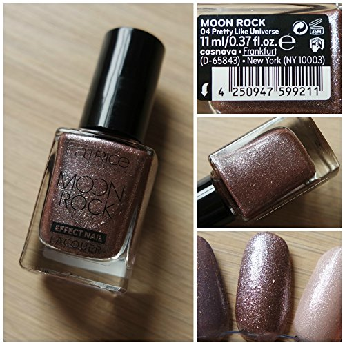 Catrice Cosmetics Moon Rock Effect Nail lacquer Vernis à ongles n°04 Pretty Like Universe, 11 ml, 0.37 fl.oz.