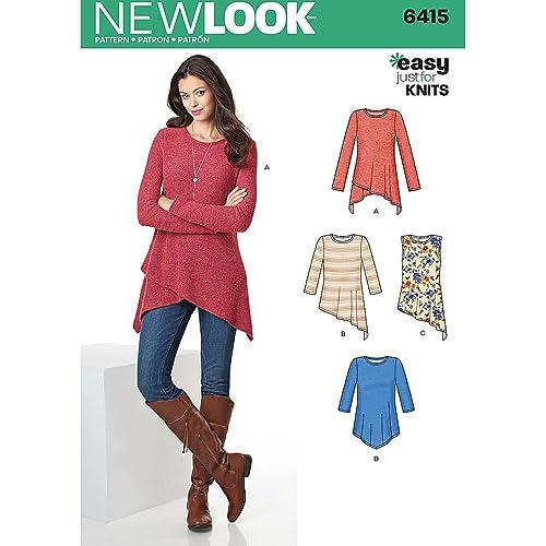New Look Patterns Misses  Knit Tunics Size  A (XS-S-M-L-XL b34c706c5