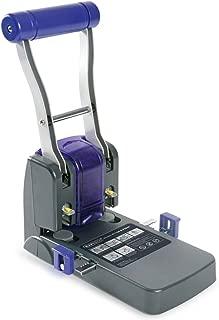 Rapesco 0247 - Perforadora de 2 agujeros y hasta 100 hojas de capacidad, guía de papel y brazo extendido para menor esfuerzo, color negro y morado