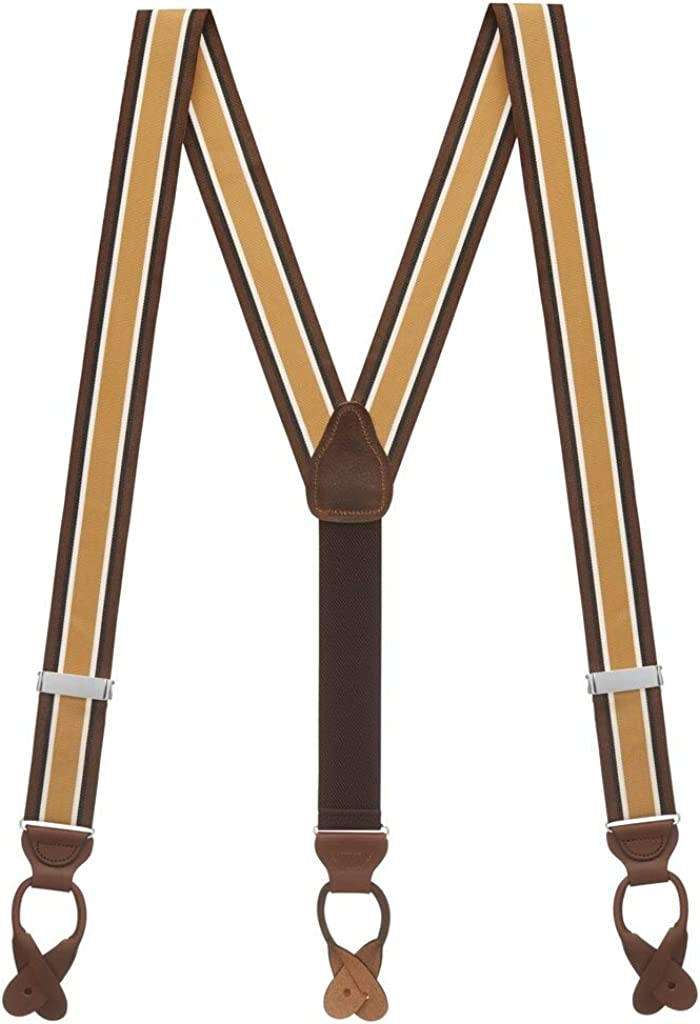 SuspenderStore High material Men's Grosgrain Classic Button Year-end annual account Colors Suspenders
